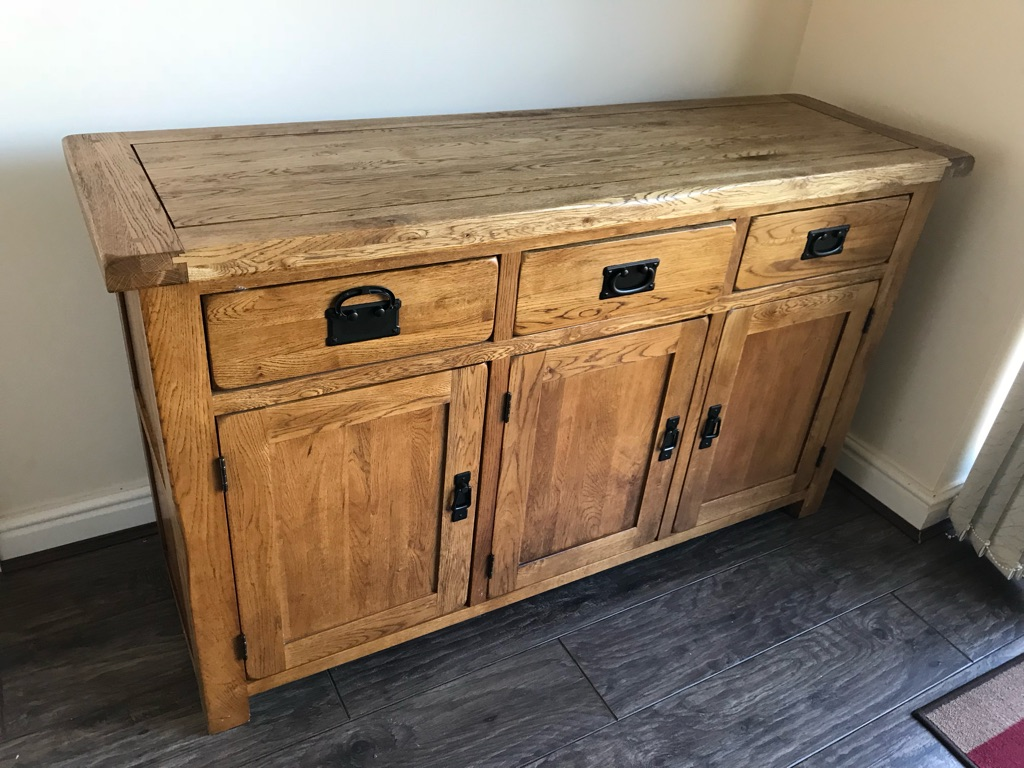 Solid oak side board