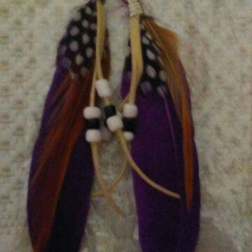 Feather earing
