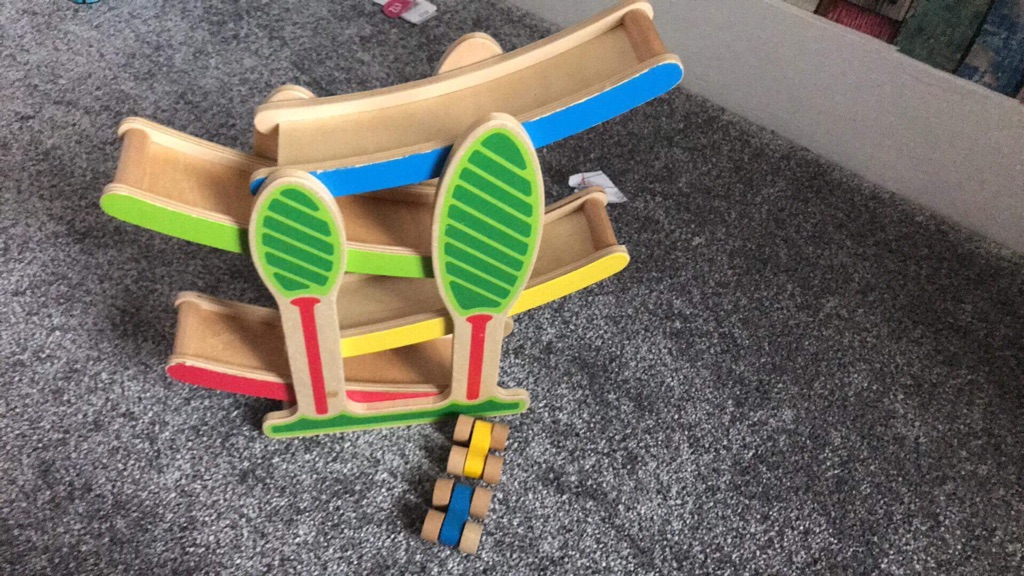Wooden cars and the ramp