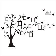 Large family tree wall decal photo frame