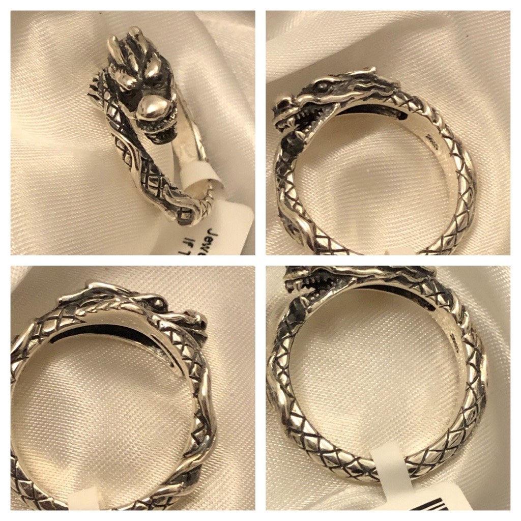 Sterling silver 925  dragon rings new most sizes left