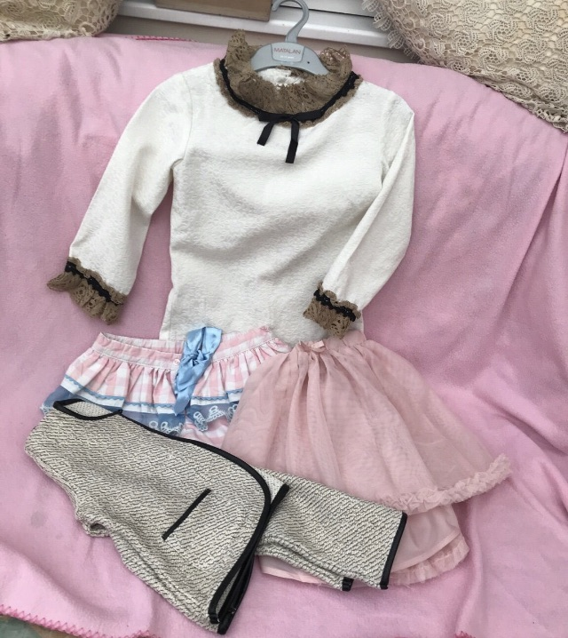 Girls mixup of clothing