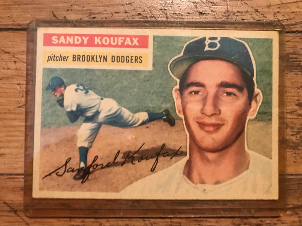 Sandy Koufax 1956 Topps Baseball Card