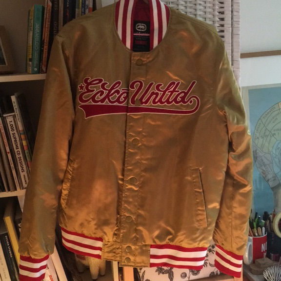 Ecko unltd gold bomber jacket men