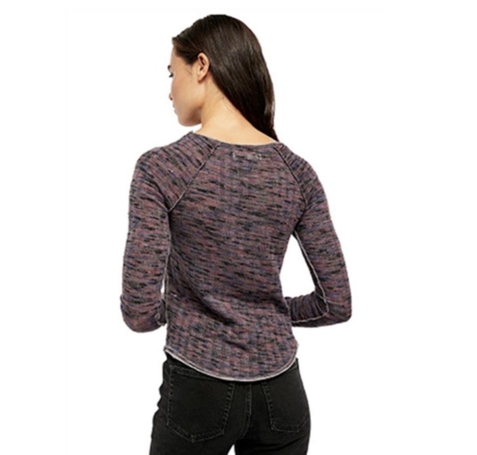 Free People Night Combo Long Sleeve Knit Top Size: Medium