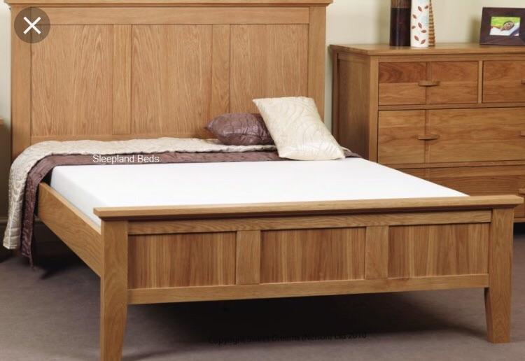 Oak (Double 4'6) bed frame