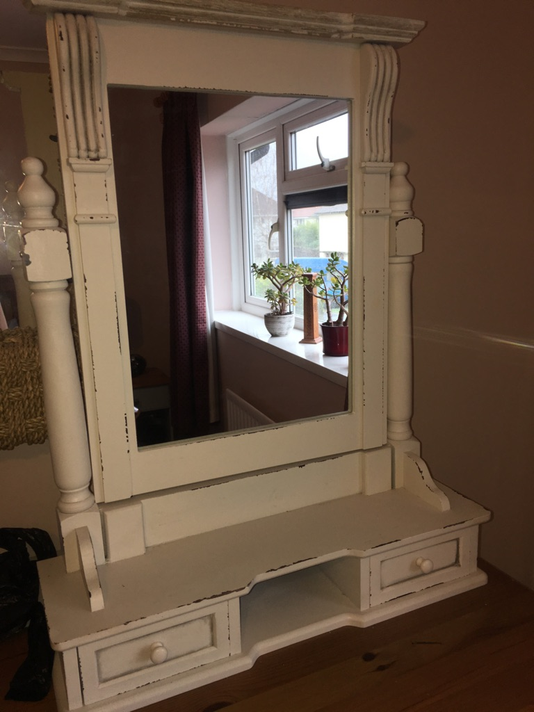 Shabby chic dressing mirror