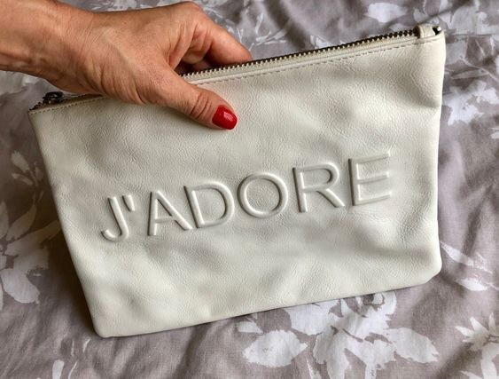 Miss Selfridge J'adore White Clutch Bag