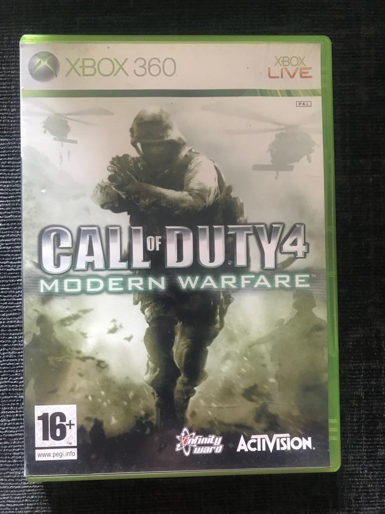 Call of duty  4 modern warfare Xbox 360 game