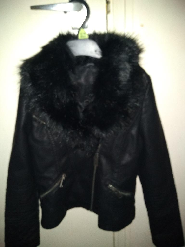 Girls 8-9 years leather jacket