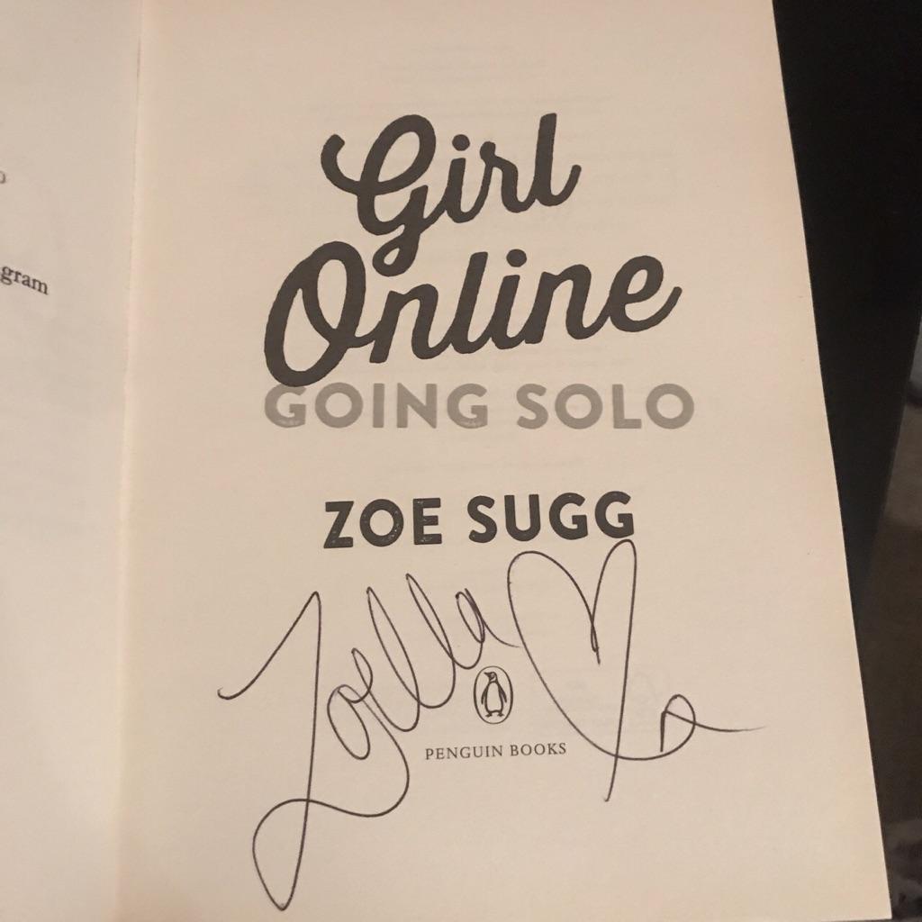 Signed zoella books