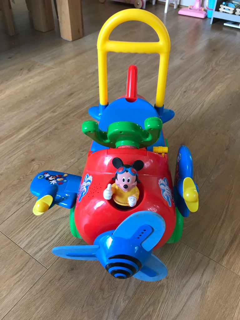 Mickey Mouse ride on airplane