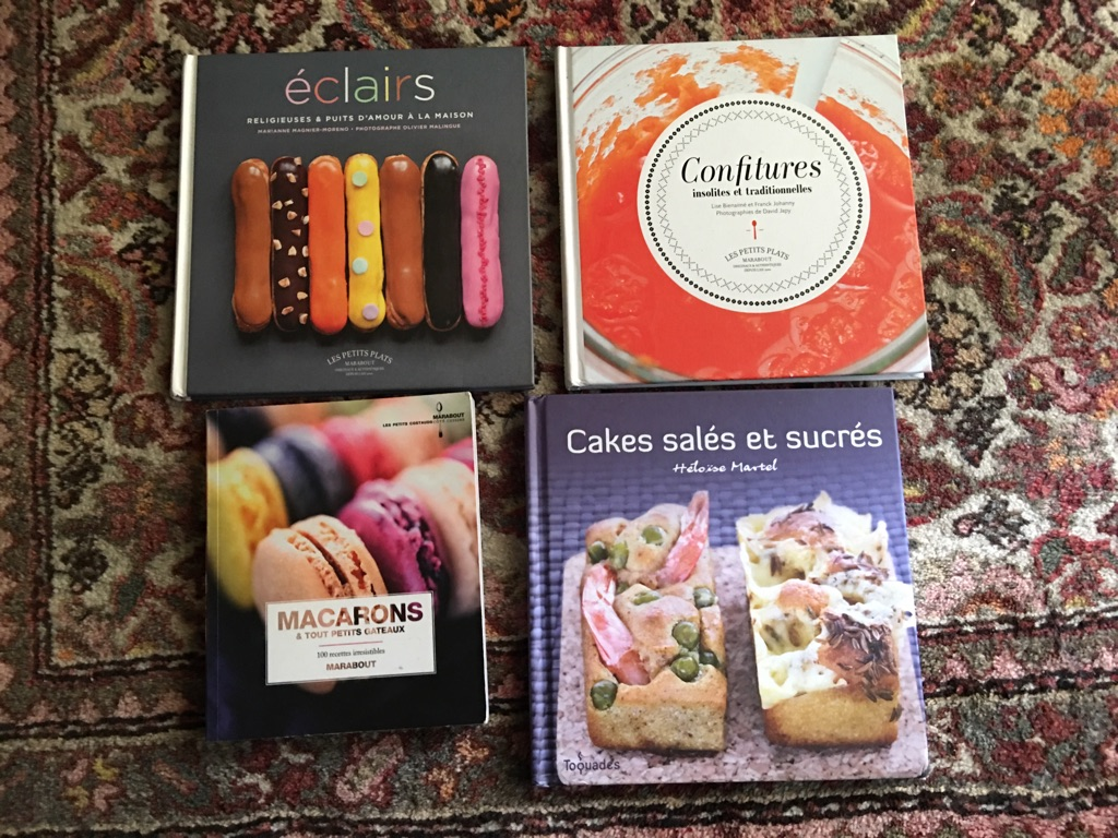 4 cooking books in French language