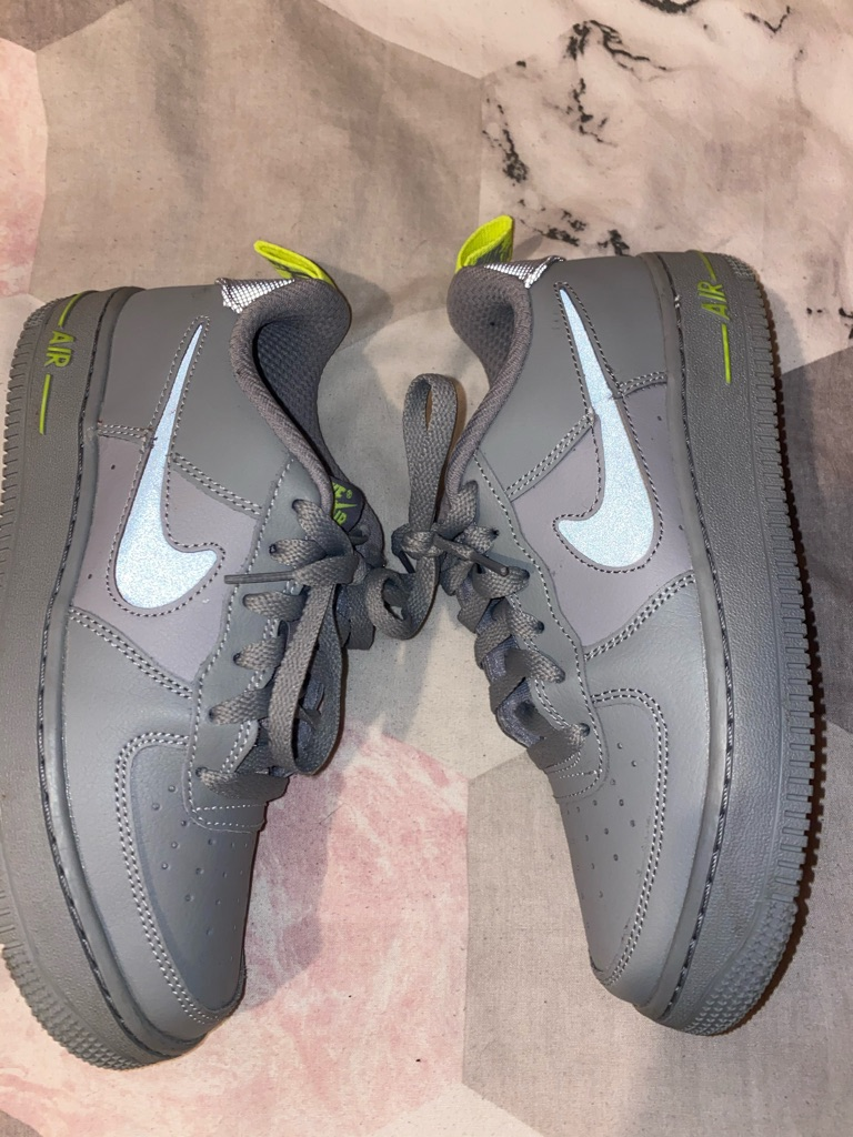 Grey Reflective Airforce 1s