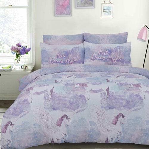 Pegasus Unicorn Lilac Reversible Duvet Set