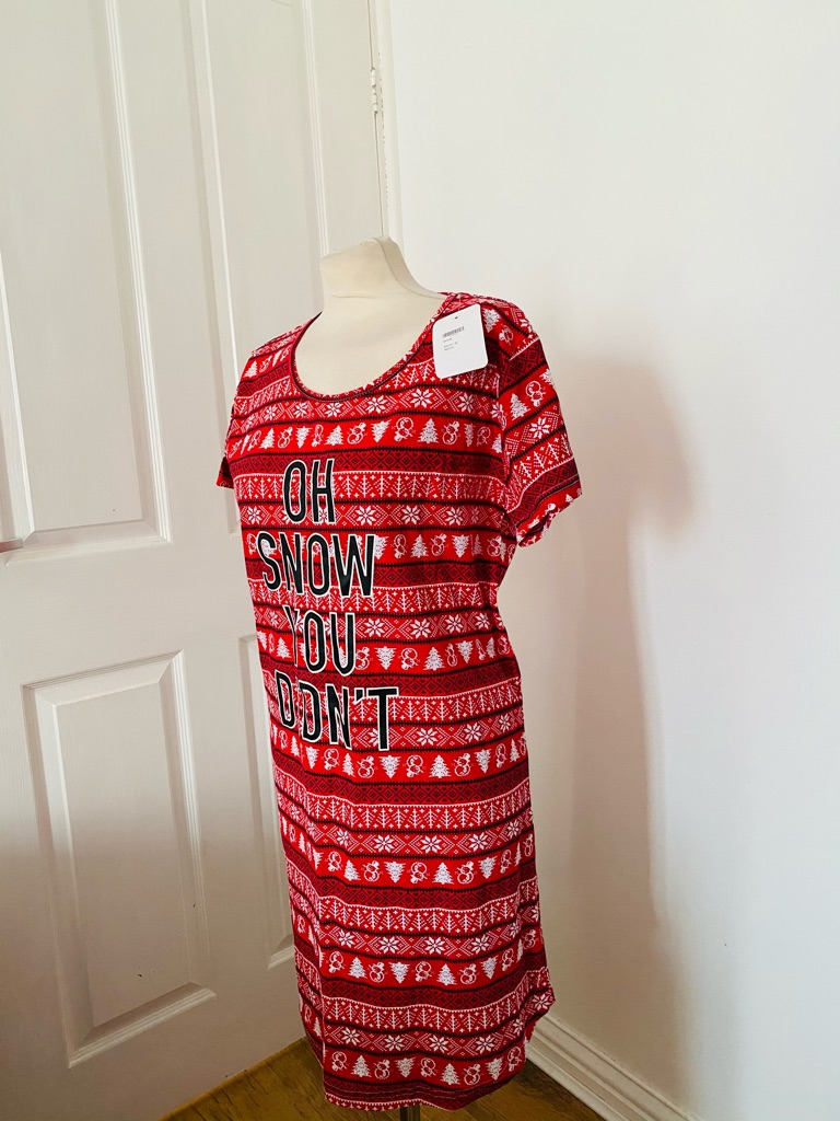Women's red white Christmas dress sizes 12 & 14/16