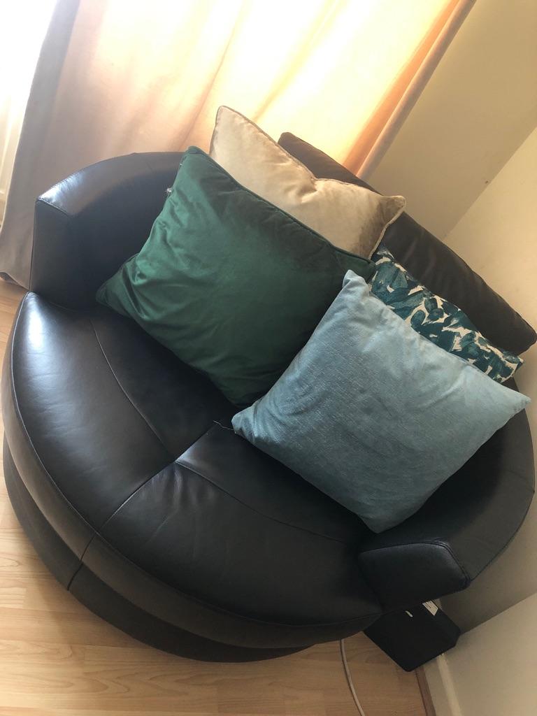 Large corner sofa + swivel chair