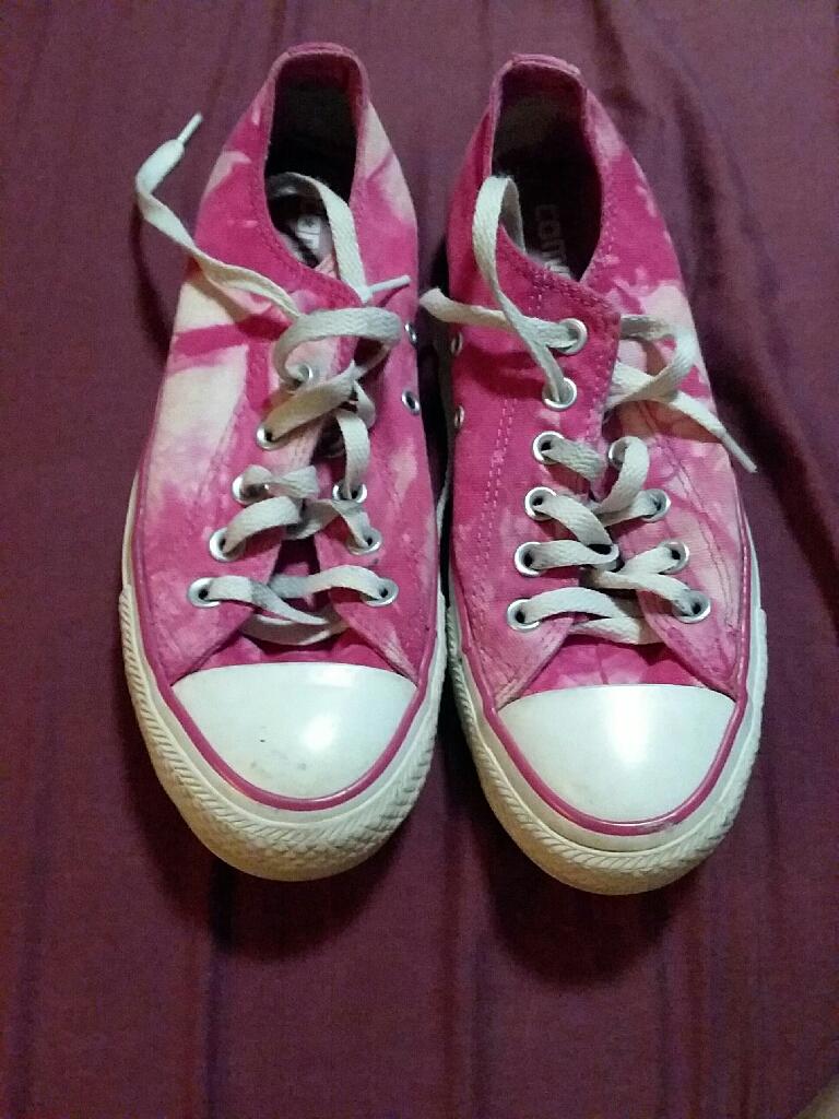 Pink tye dye converse