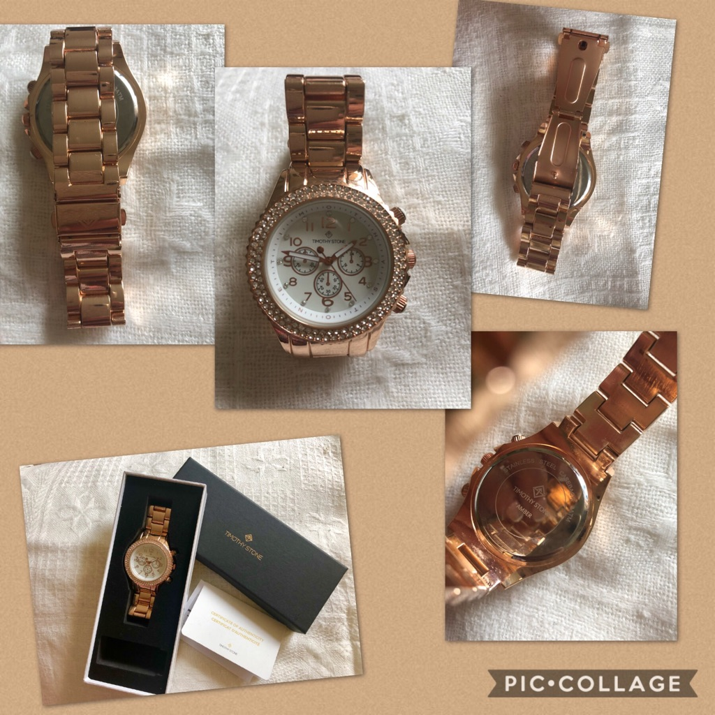 Thomas Stone Ladies Rose Gold Colour Watch