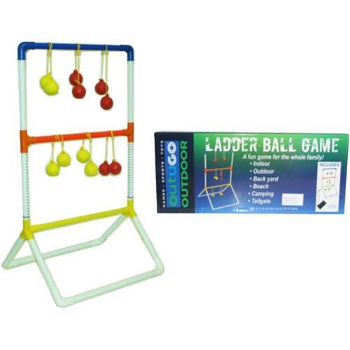 Outdoor ladder ball game