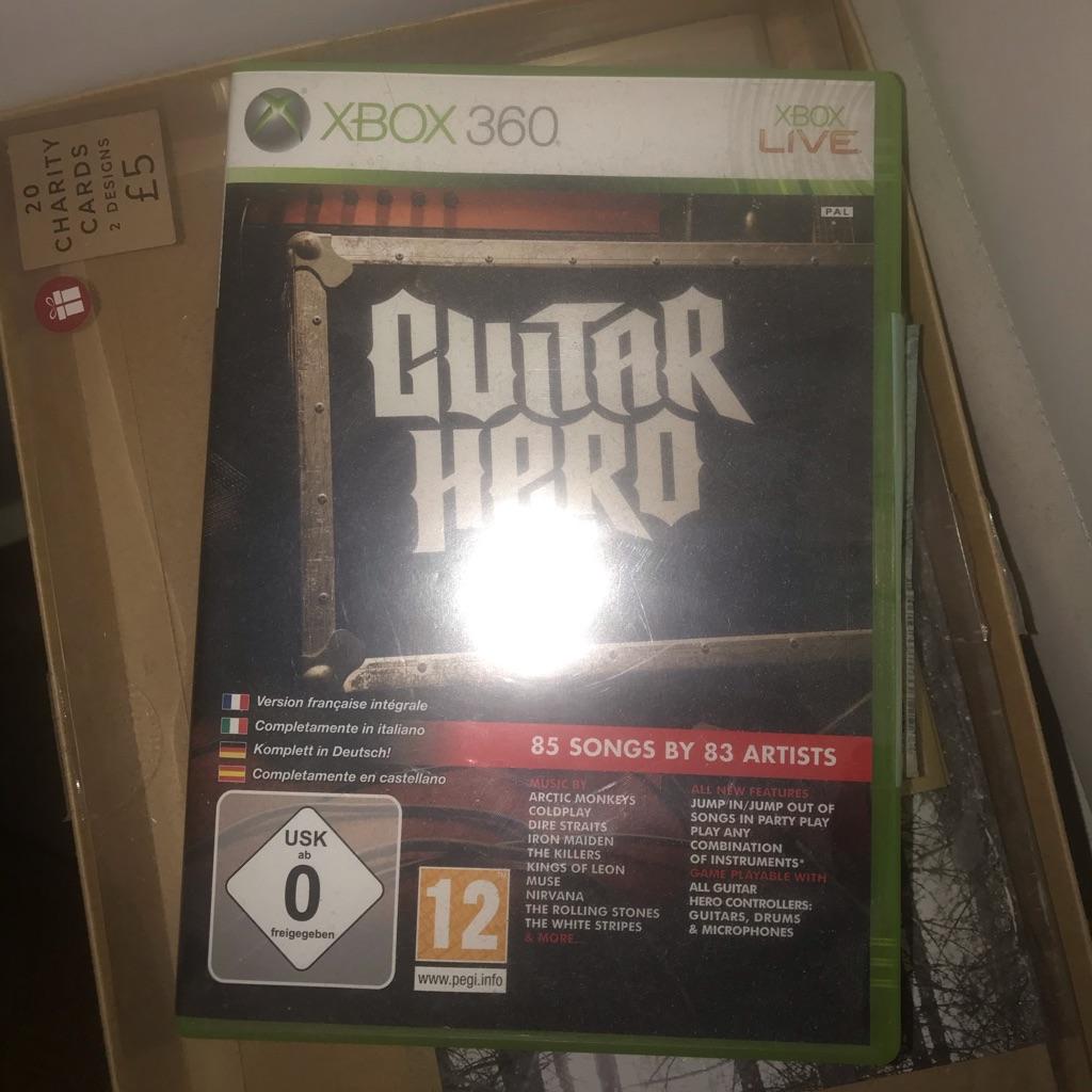 Guitar hero Xbox360 game