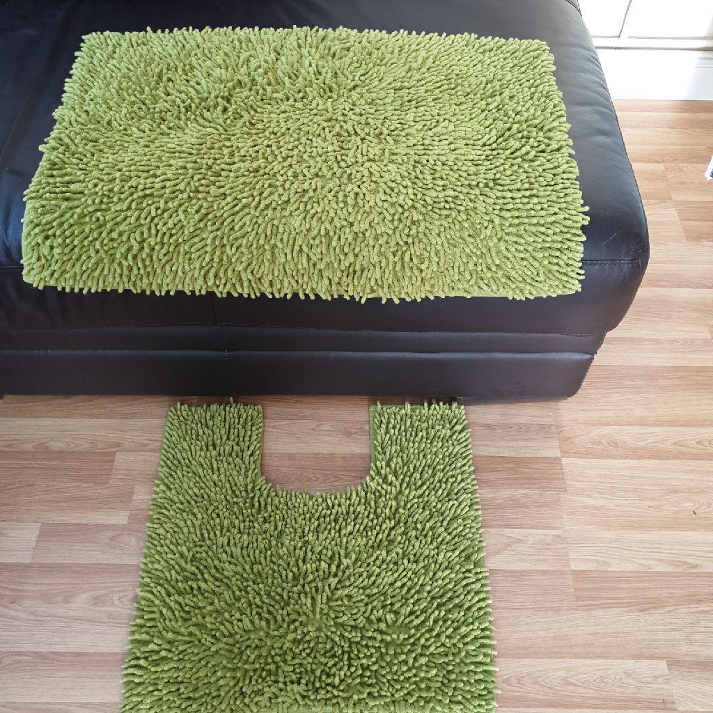 Green bath/toilet set