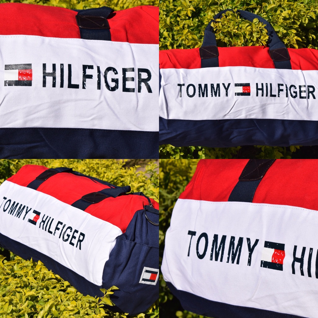 Tommy Hilfiger Large Travel Bag /Gym Bag/ Duffle Bag with shoulder strap