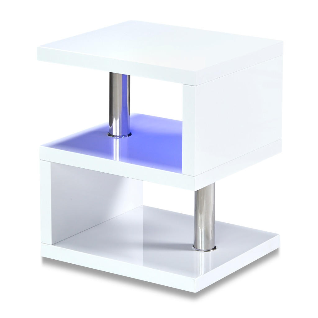 Modern Blue LED White Lamp Table/Side Table