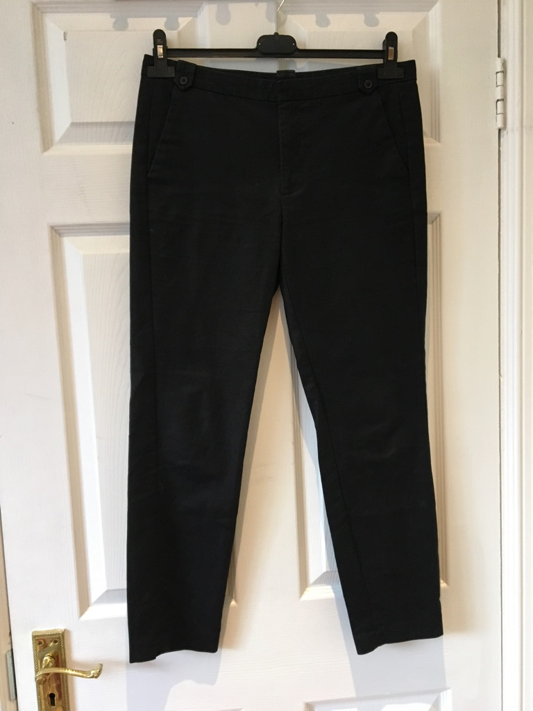 Zara basic black tailored trousers