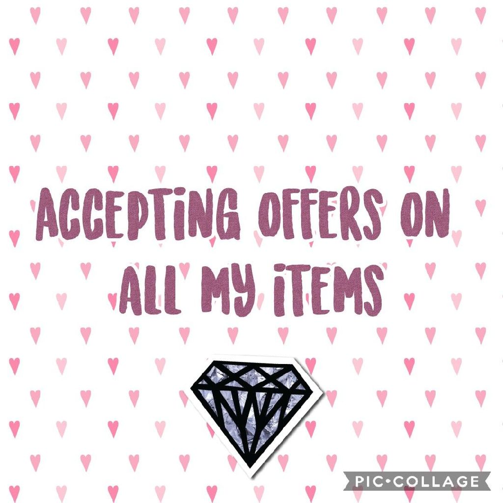 Accepting offers on all my items xx