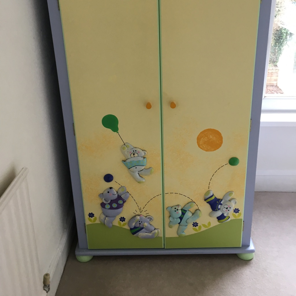 Nursery wardrobe bought at Eddershaws