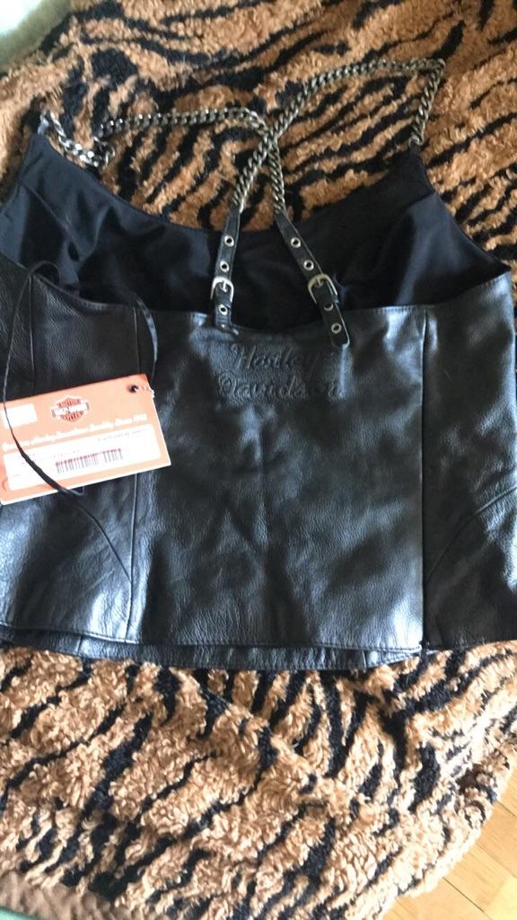 Harley Davidson leather halter
