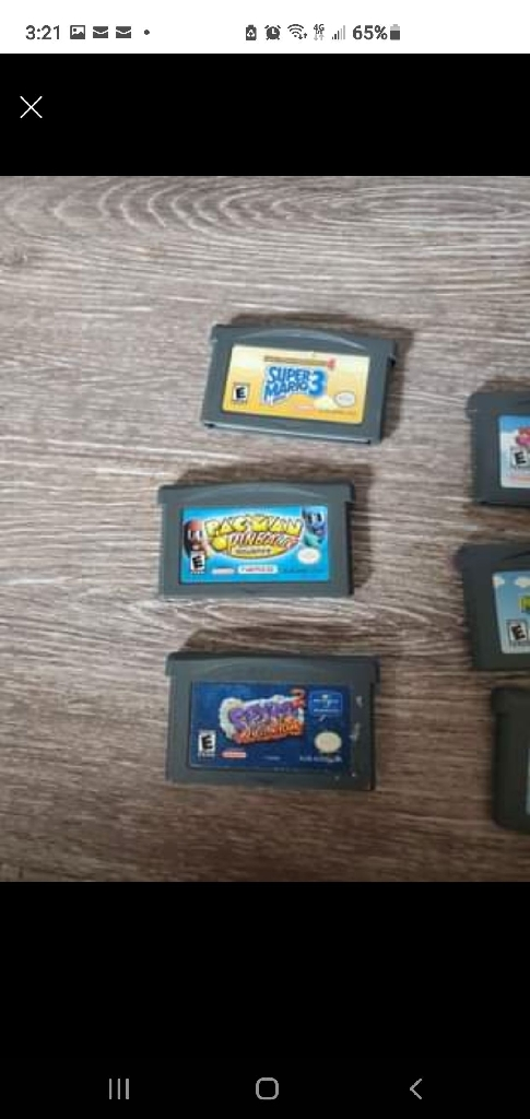 Gameboy advanced games