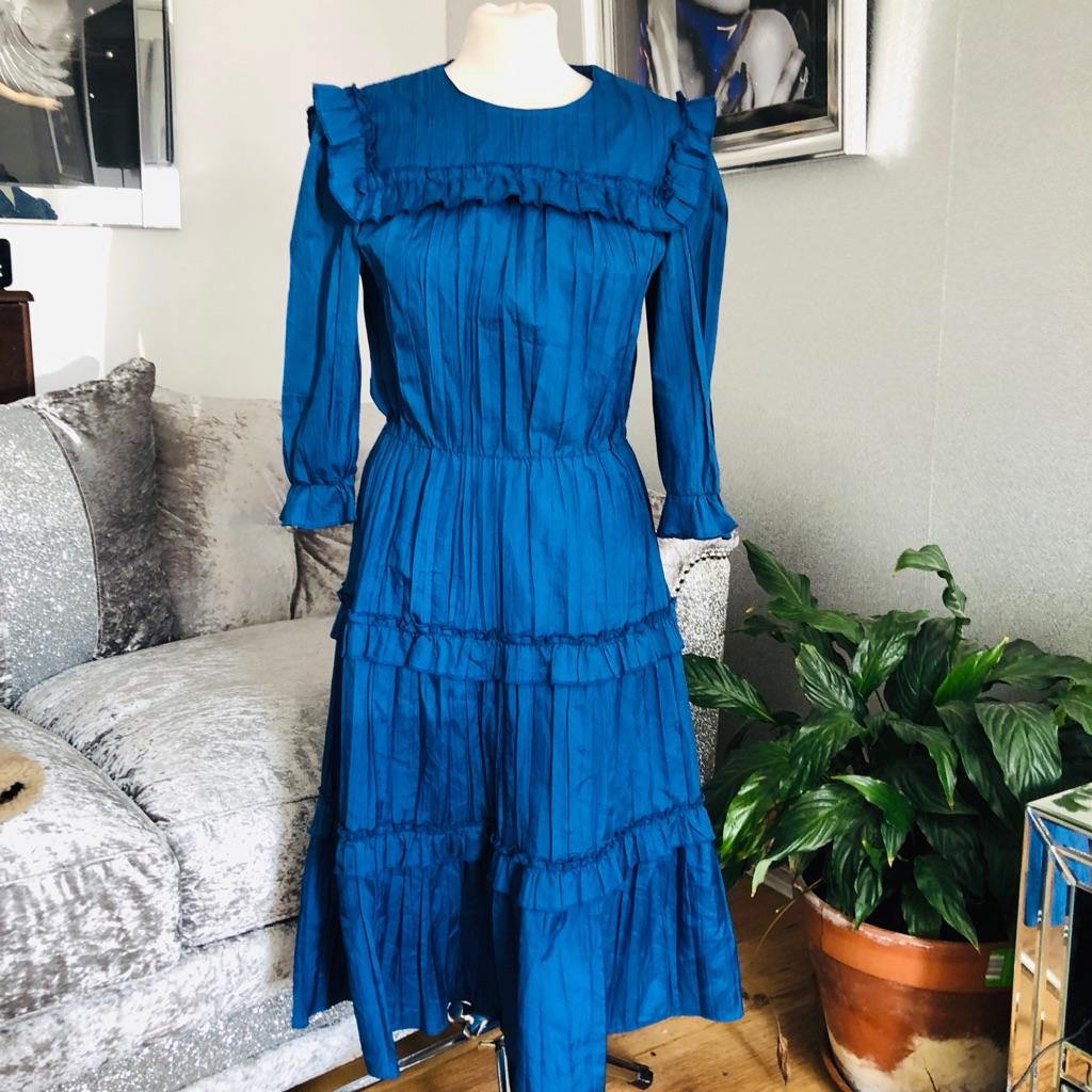 Women's blue vintage dress by Lacella size 12/14