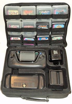 Sega Game Gear bundle set huge lot w/ 30 games, bag, cables, acessories *TESTED*