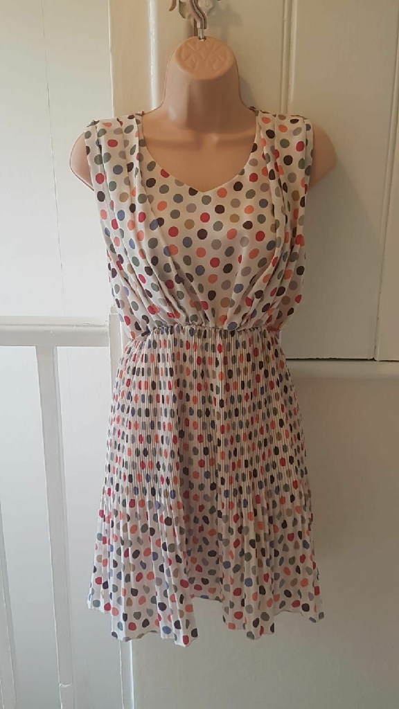 Multicoloured spotty dress