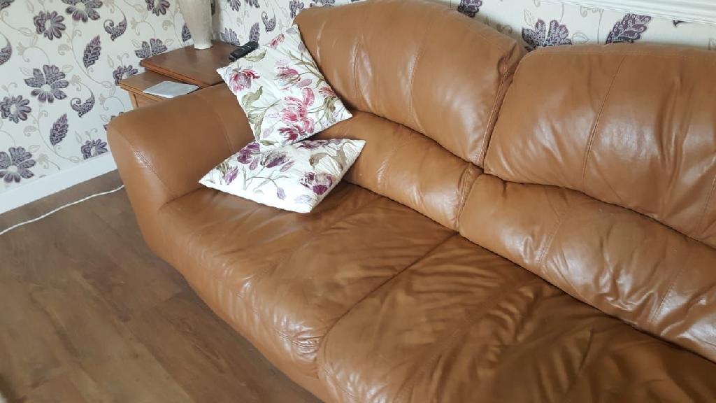 Sand coloured sofas