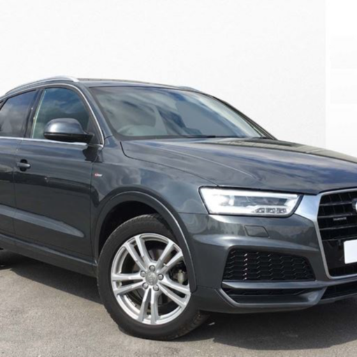 Audi Q3 S line Edition 2.0 TDI Quattro 184 PS S tronic, Automatic, 1 prev owner, Full Audi Service History, 2017 (17 Reg) FY17DSO, Daytona Grey, Pearl Effect