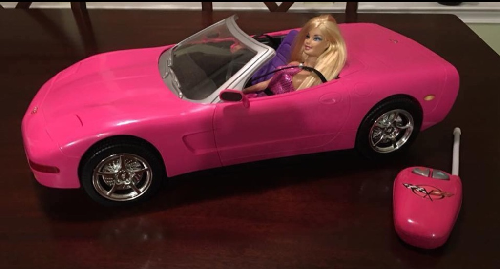 Barbie Remote Control Corvette Car with Barbie Doll
