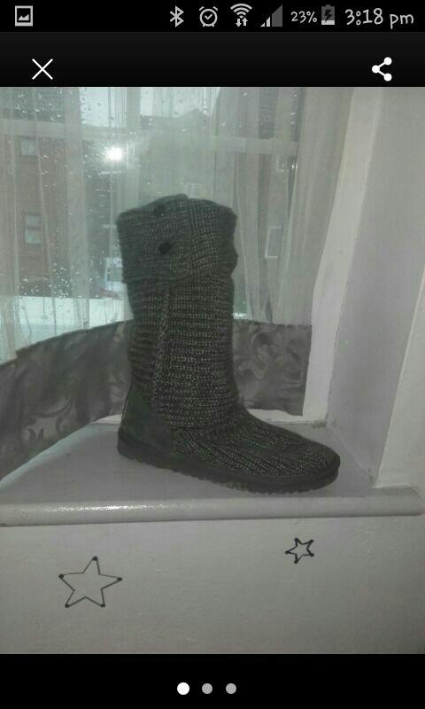 grey whool ugg boots