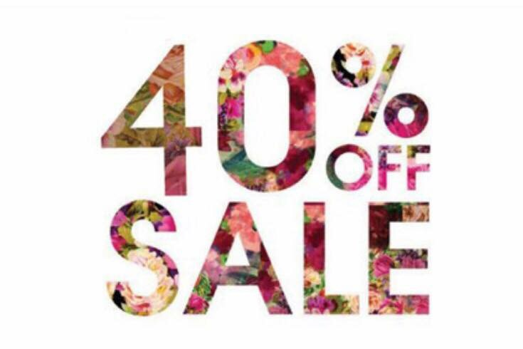Body shop at home 40% off sale now on