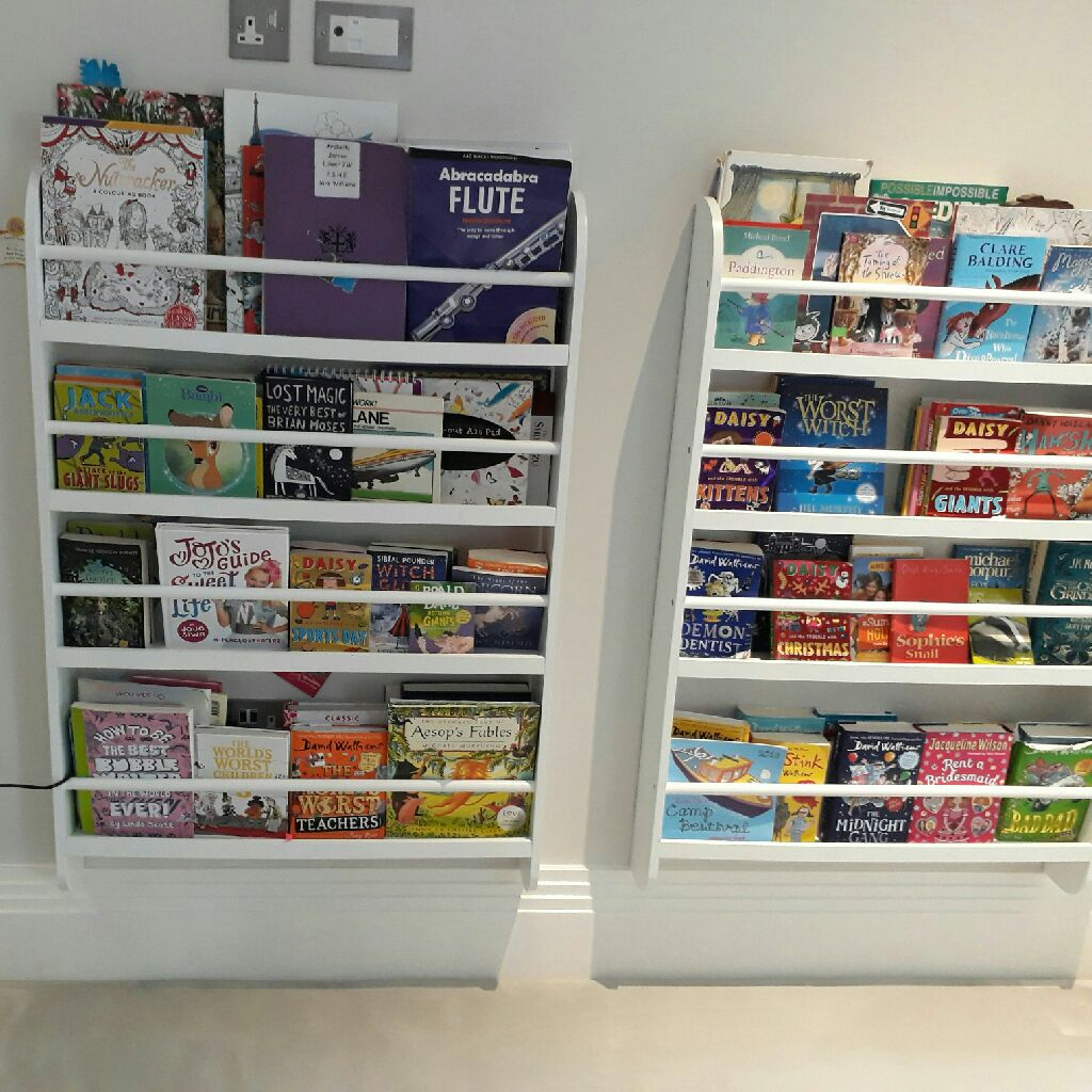 White wooden shelves or bookcase