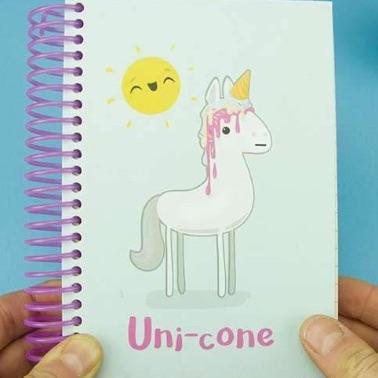 Uni-cone notebook