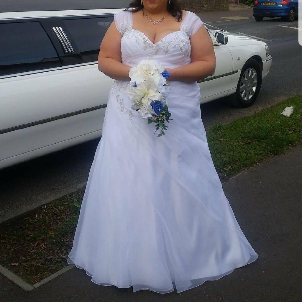 White Plus Size Wedding Dress Village