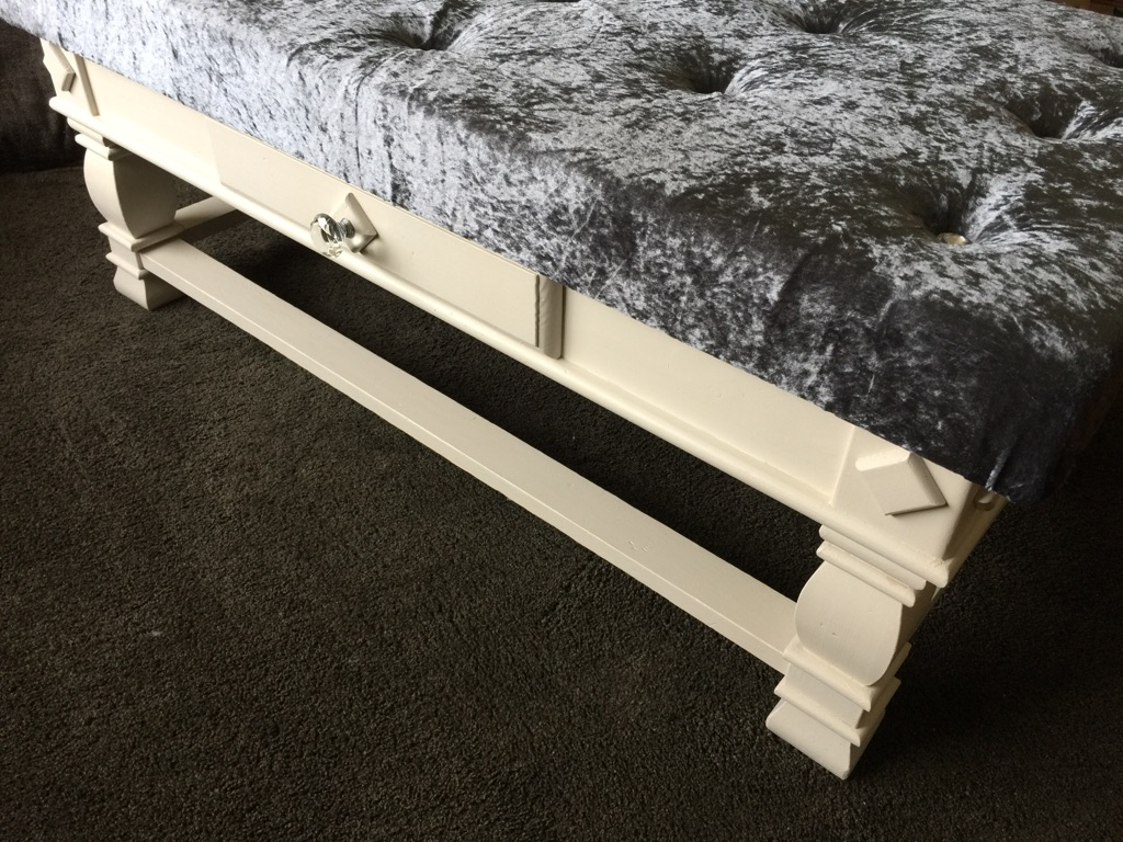 Shabby chic ottoman footstool coffee table. Bedstead