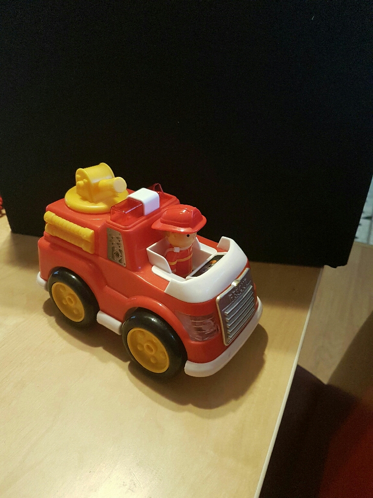 Set of musical toys / tractor/train/fire car