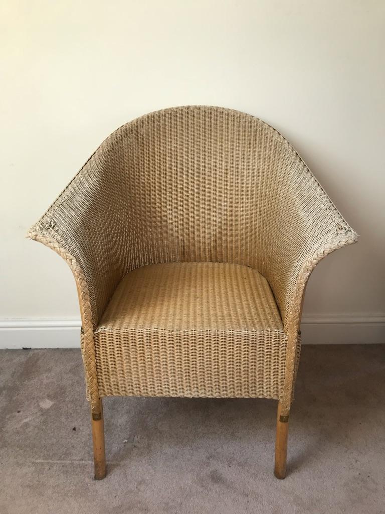 Vintage Lloyd Loom wicker chair