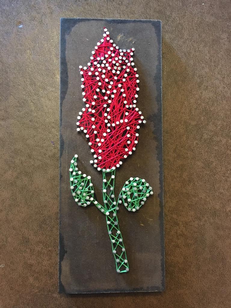 Rose String Art