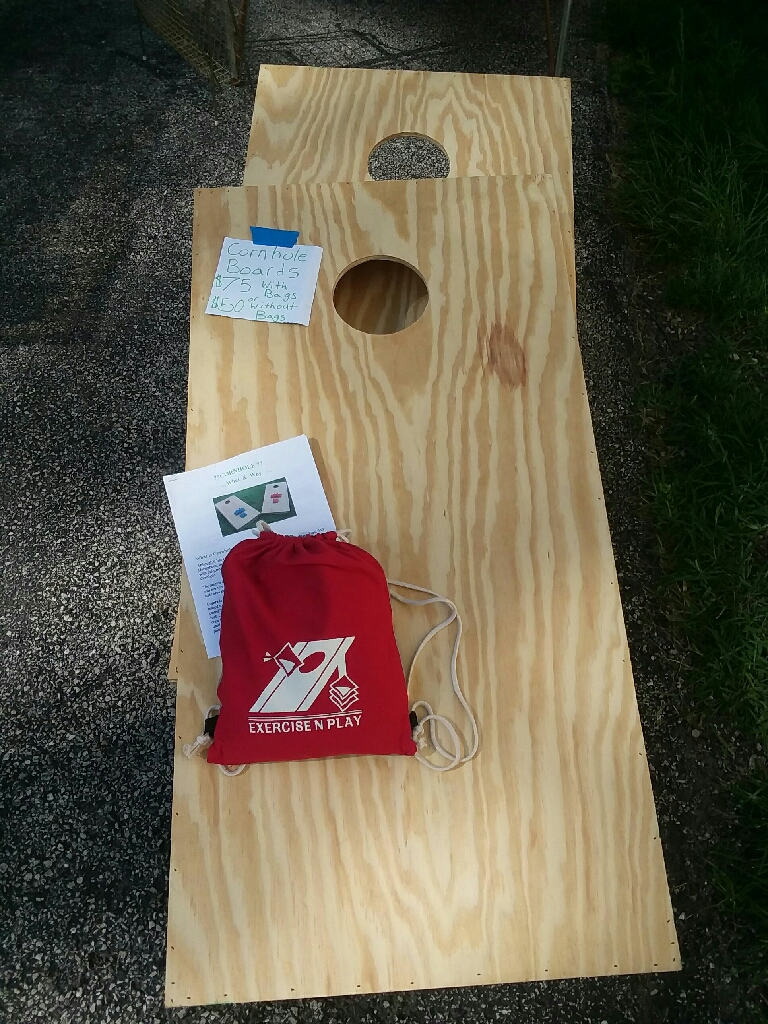 Handmade cornhole boards