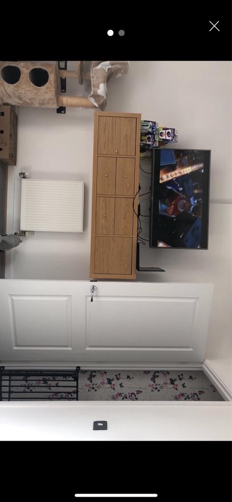 Ikea pine wooden tv wall cabinet cupboard